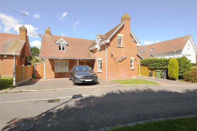Thumbnail Detached house for sale in Marconi Gardens, Pilgrims Hatch, Brentwood, Essex