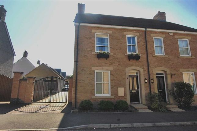 Thumbnail Semi-detached house to rent in Edison Way, Fairfield Park, Stotfold, Hitchin