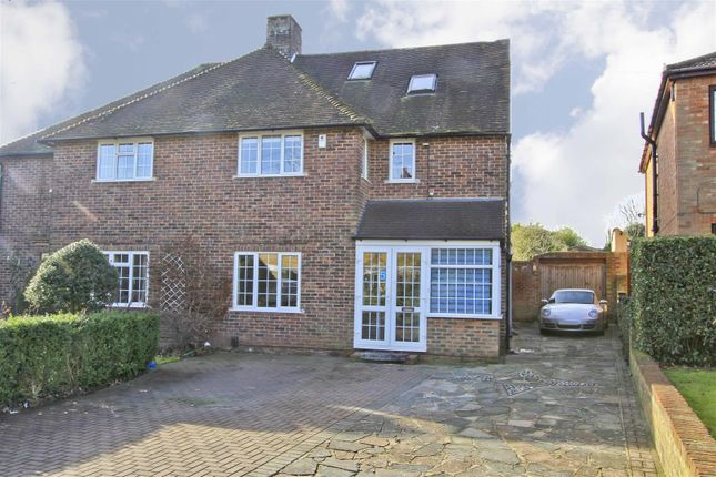 Thumbnail Semi-detached house for sale in Poplars Close, Ruislip