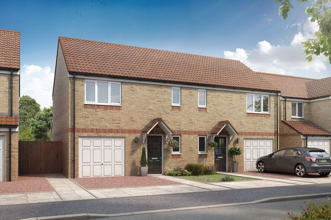 """Thumbnail Semi-detached house for sale in """"The Newton"""" at Stobhill Road, Gorebridge"""