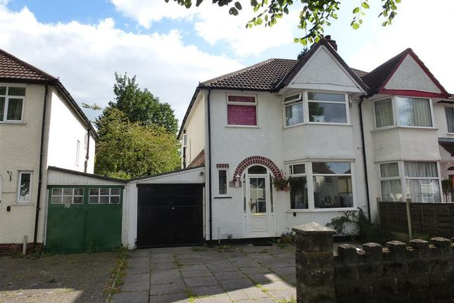 Thumbnail Semi-detached house to rent in Stanway Road, Shirley, Solihull