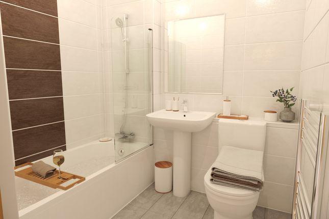 Bathroom CGI of Elfin Square, Edinburgh EH11