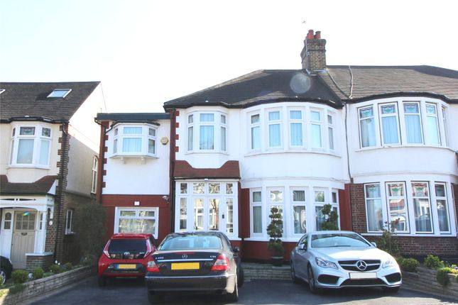 Thumbnail Semi-detached house for sale in Beechdale, Winchmore Hill, London