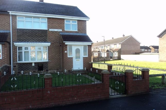 Thumbnail End terrace house to rent in Cragdale Gardens, Hetton-Le-Hole, Houghton Le Spring, Tyne And Wear