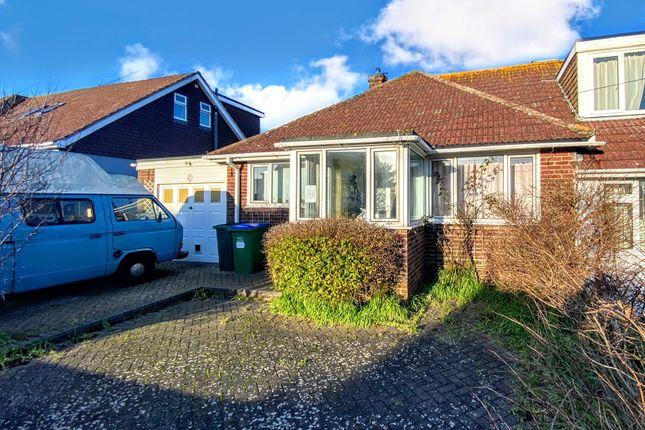 Thumbnail Semi-detached bungalow for sale in Grassmere Avenue, Telscombe Cliffs, Peacehaven
