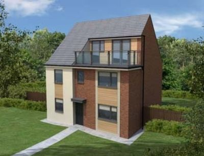 "Thumbnail Detached house for sale in ""The Harrington"" at Prendwick Avenue, Newcastle Upon Tyne"