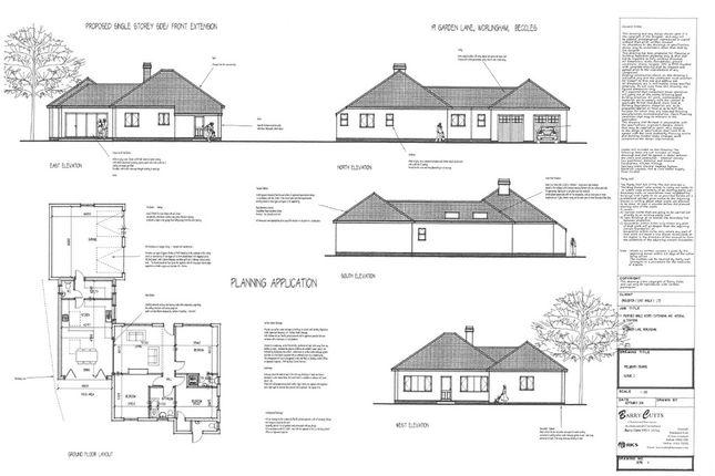 Thumbnail Detached bungalow for sale in Garden Lane, Worlingham, Beccles