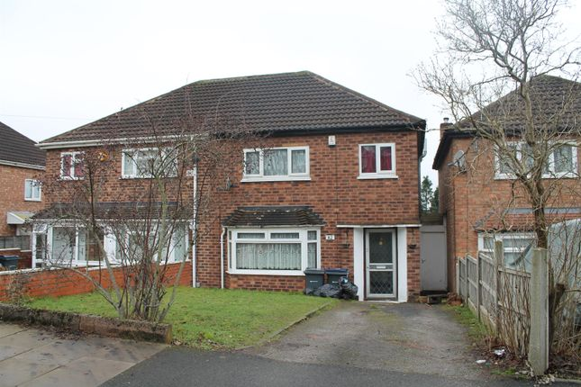 Thumbnail Semi-detached house to rent in Camplin Crescent, Handsworth Wood, Birmingham
