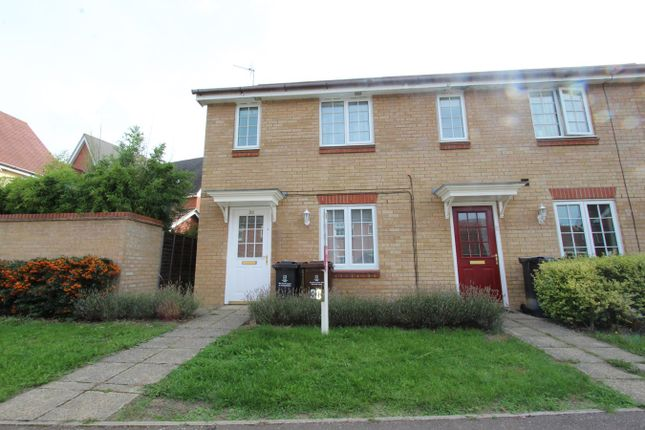 Thumbnail End terrace house to rent in Shepherd Drive, Colchester