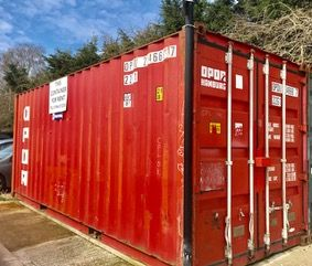 Container At Station Yard, Thame, Oxon. OX9