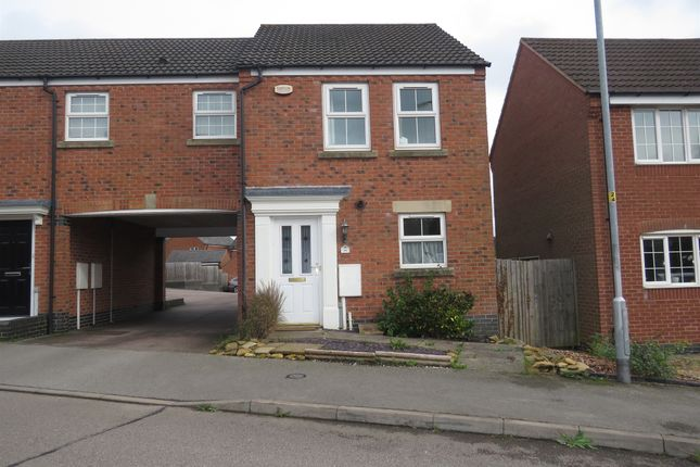 Thumbnail Semi-detached house for sale in Burdock Way, Desborough, Kettering