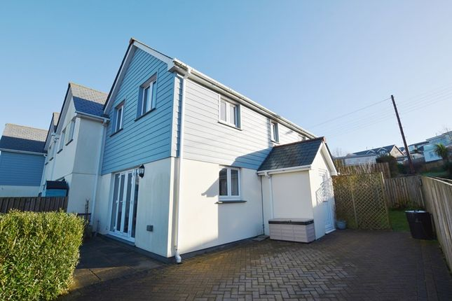 Thumbnail End terrace house for sale in St. Michaels Road, Perranporth