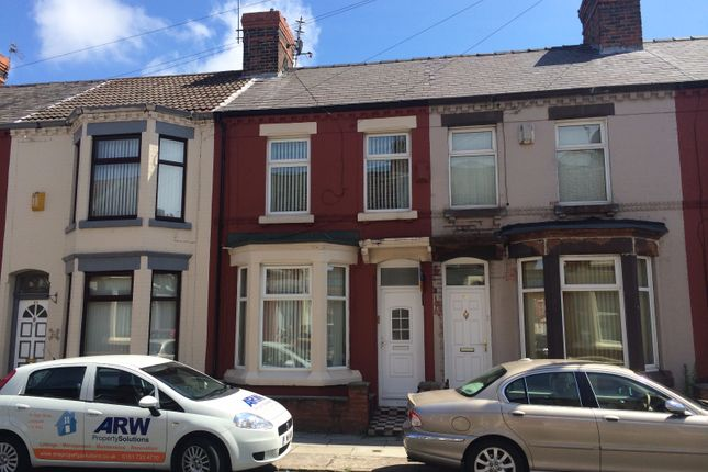 Thumbnail Terraced house to rent in Halsbury Road, Liverpool