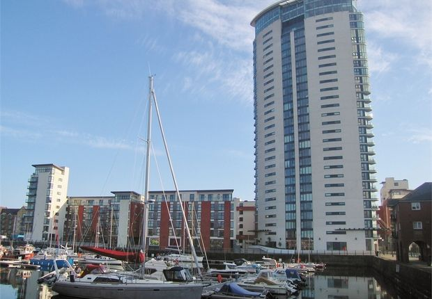 Thumbnail Flat for sale in Meridian Tower, Maritime Quarter, Swansea