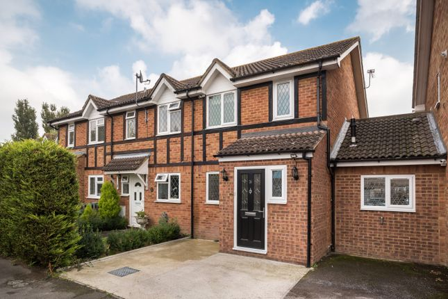 Thumbnail End terrace house for sale in The Heathers, Stanwell, Staines