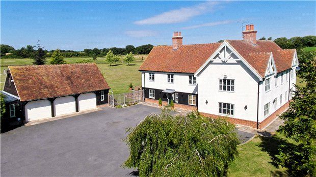 Thumbnail Detached house for sale in Marks Hall Lane, White Roding, Dunmow, Essex