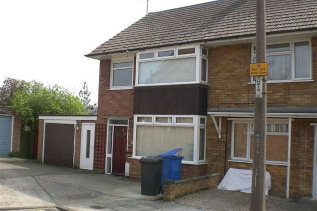 Thumbnail Terraced house to rent in Upton Close, Ipswich