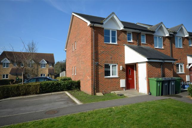 Thumbnail End terrace house for sale in Acorn Avenue, Frimley Green, Surrey