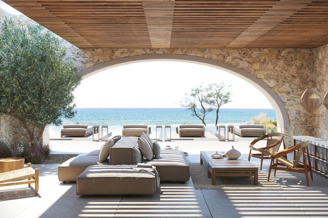 K Studio Covered Outdoor Living Room And Terrace Facing Sea At Navarino Residences