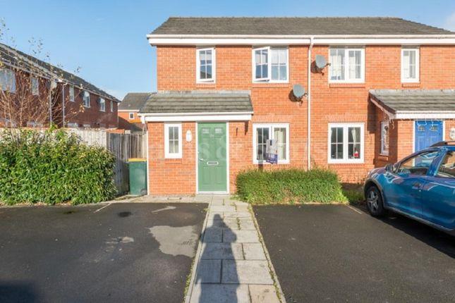 Thumbnail Semi-detached house for sale in Clos Ennig, Bettws, Newport.