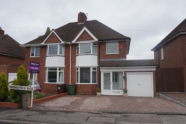 Thumbnail Semi-detached house for sale in Summerfield Road, Solihull