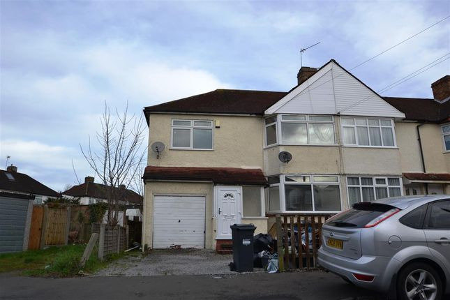 Thumbnail End terrace house for sale in Elmgate Avenue, Feltham