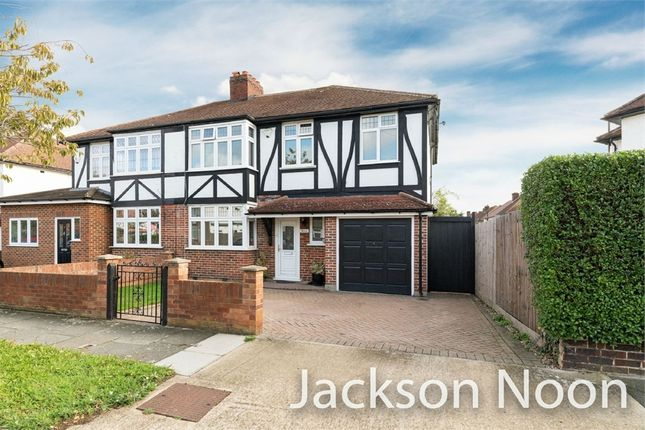 Thumbnail Semi-detached house for sale in Brockenhurst Avenue, Worcester Park