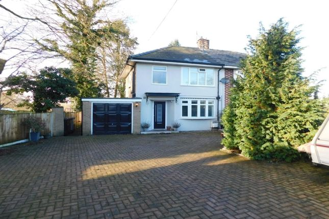 Thumbnail Semi-detached house for sale in Crewe Road, Haslington, Crewe