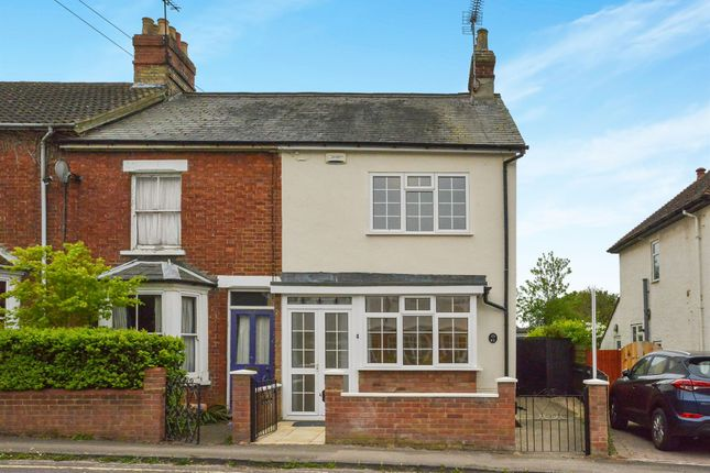 Thumbnail End terrace house for sale in Theydon Avenue, Woburn Sands, Milton Keynes