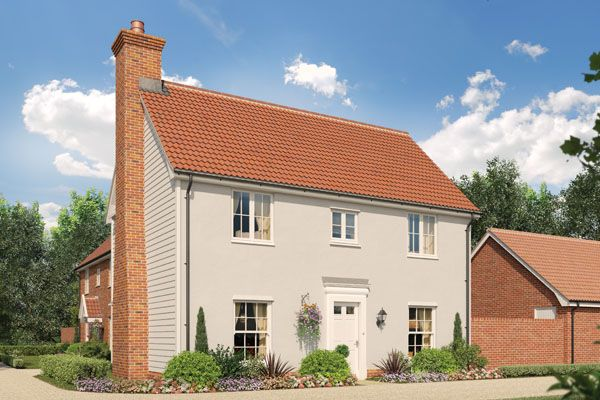 Thumbnail Semi-detached house for sale in The Dahlia, Station Road, Framlingham, Suffolk
