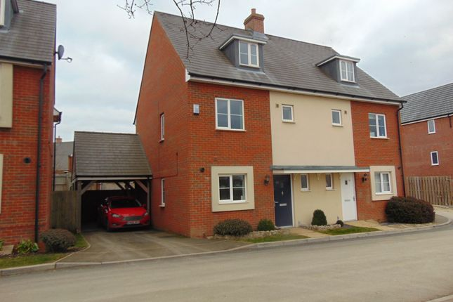 Thumbnail Semi-detached house to rent in Sir Bernard Paget Avenue, Ashford