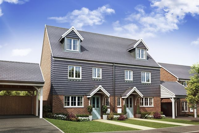 "Thumbnail Semi-detached house for sale in ""The Leicester"" at High Street, Newington, Sittingbourne"