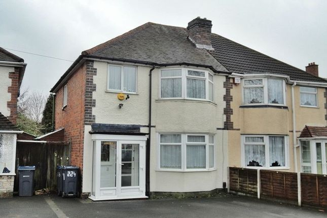 Thumbnail Semi-detached house to rent in Fox Hollies Road, Acocks Green, Birmingham