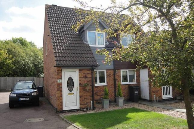 Thumbnail Town house for sale in Caernarvon Close, Mountsorrel, Leicestershire