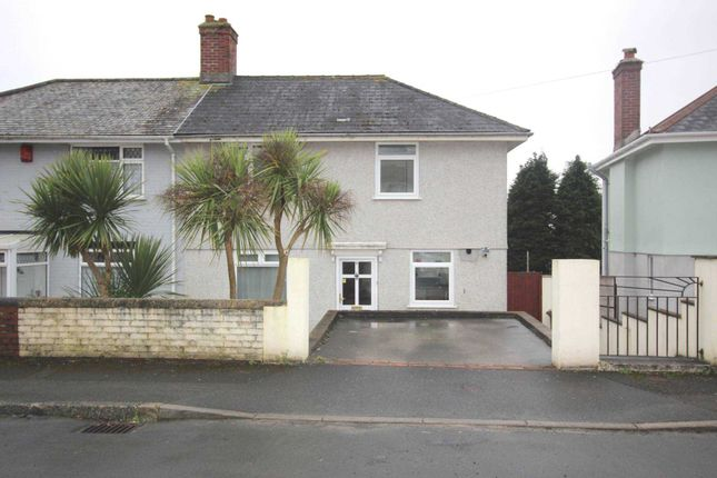 Thumbnail Semi-detached house to rent in Blairgowrie Road, Plymouth