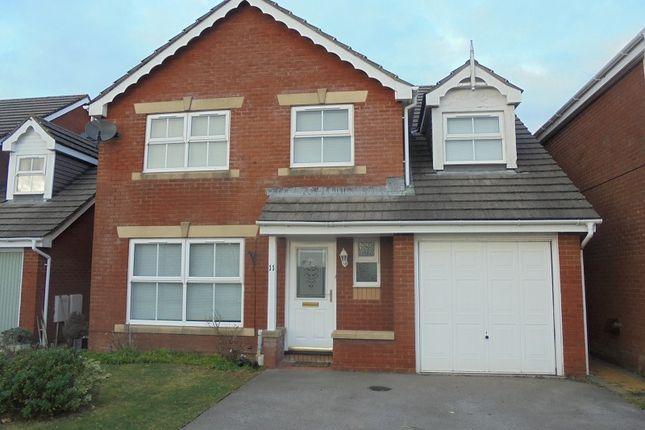 Thumbnail Detached house to rent in Gelli Wen, Bridgend