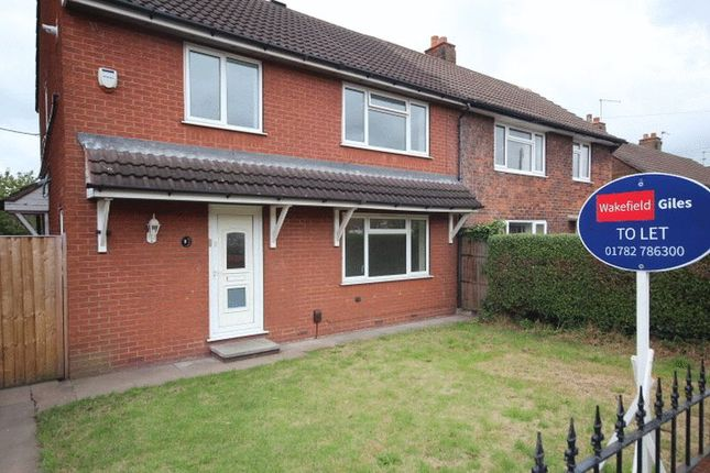 Thumbnail Semi-detached house to rent in Sussex Drive, Kidsgrove, Stoke-On-Trent