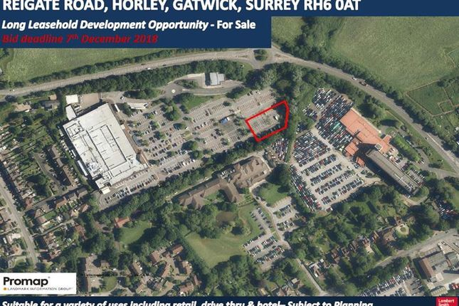 Thumbnail Land for sale in Land At Reigate Road, Horley, Gatwick