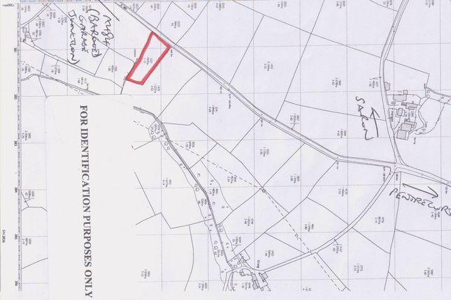 Land for sale in Pentrecwrt Road, Saron