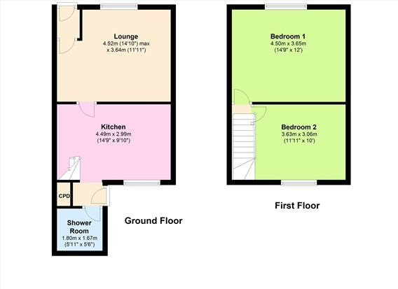 Floor Plan of Bolton Road, Chorley PR6