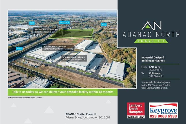 Thumbnail Light industrial to let in Phase III, Adanac North, Adanac Drive, Nursling, Southampton