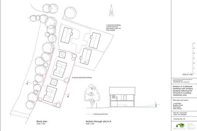 Thumbnail Land for sale in Brighton Road, Warninglid, Haywards Heath