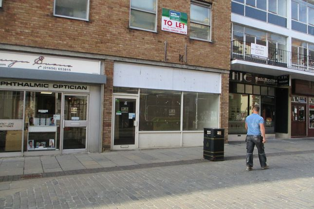 Retail premises to let in Lock-Up Shop & Premises, 6 Wyndham Street, Bridgend