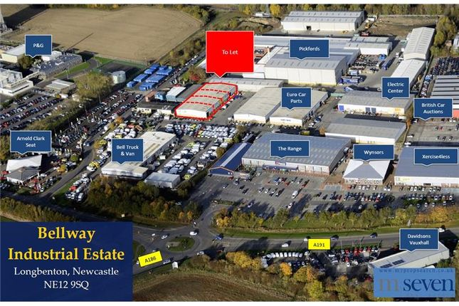 Thumbnail Warehouse to let in Unit 4-7, Bellway Industrial Estate, Whitley Road, Longbenton, Newcastle Upon Tyne, Tyne And Wear