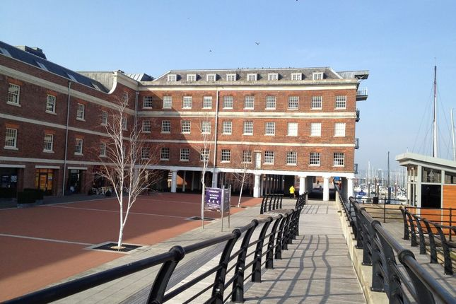 Thumbnail Flat to rent in The Granary And Bakery, Royal Clarence Marina, Gosport