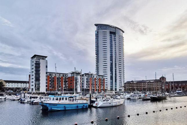 Thumbnail Flat for sale in Meridian Wharf, Trawler Road, Marina, Swansea
