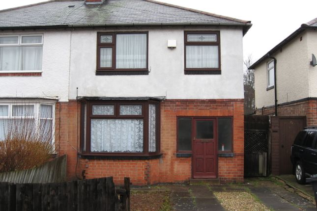 Thumbnail Semi-detached house to rent in Evesham Road, Leicester