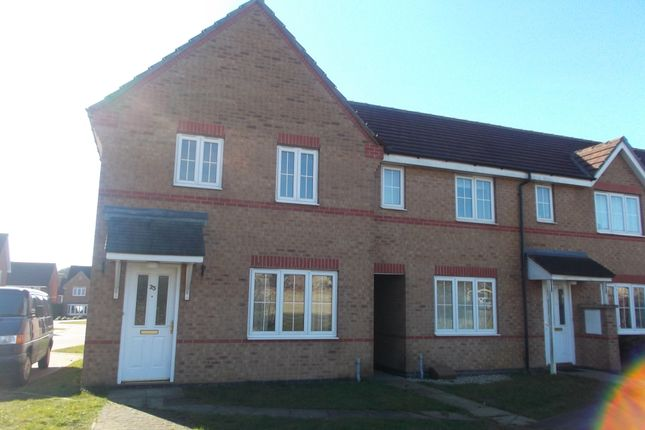 Thumbnail End terrace house to rent in Johnson Drive, Scunthorpe