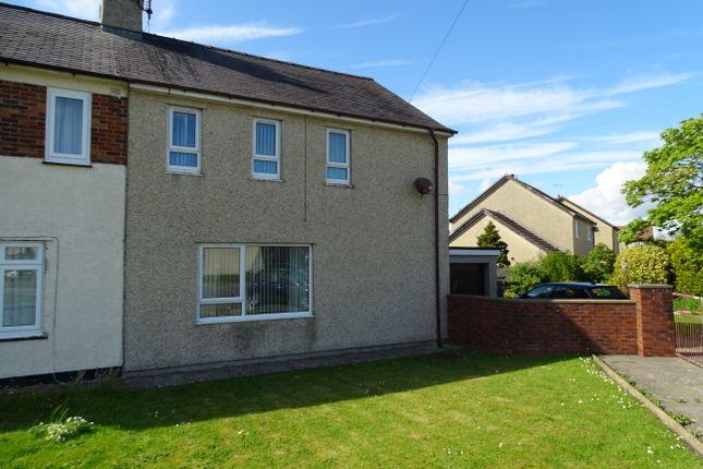 Thumbnail Semi-detached house for sale in Bron Y Felin, Llangefni, Ynys Mon