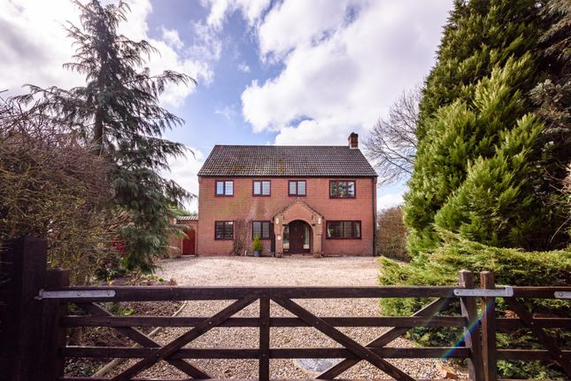 Thumbnail Detached house for sale in Wymondham Road, Wreningham, Norwich